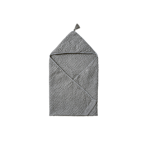 hooded towel 3 blue grey - 마르마르